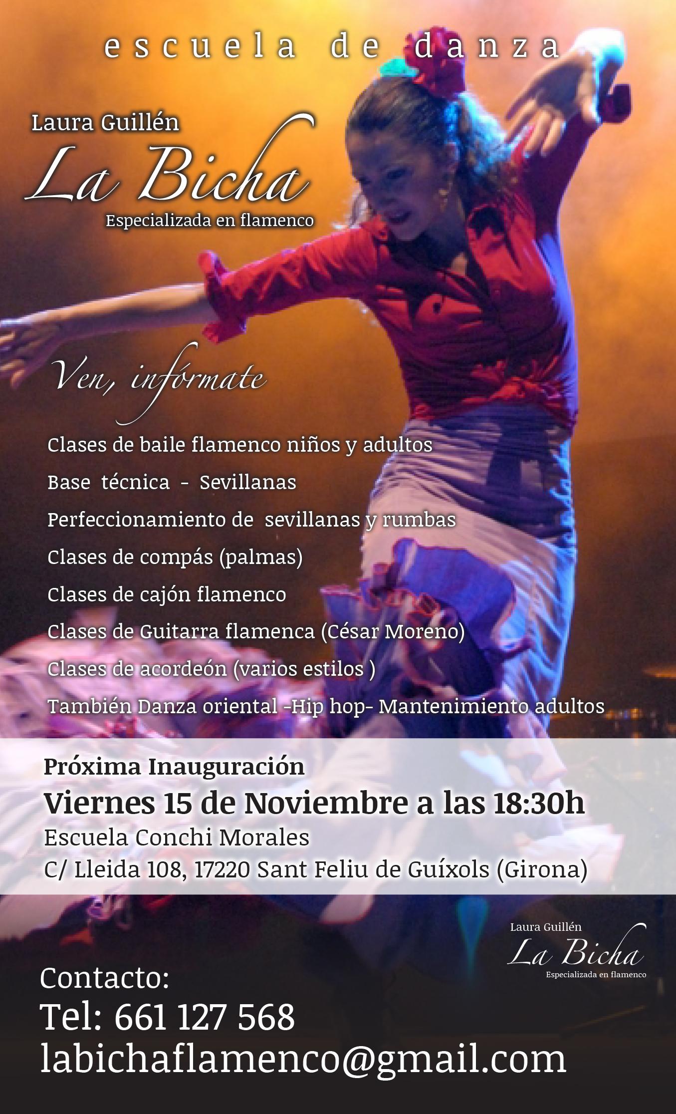 la Bicha - Pòster A3 Inauguració Sant Feliu